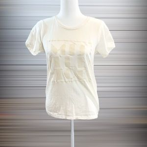 "J Crew Factory ""Mistletoe"" Ivory Cream Tee Shirt"